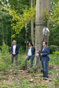 Pressetermin in Augsburg mit Frau Eva Webber, Frau Prof. Annette Menzel und Herrn Dr. Marvin Lüpke