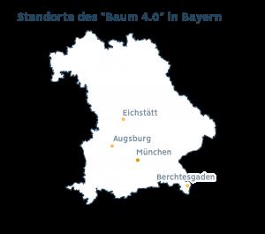 Standorte des Baum 4.0 in Bayern